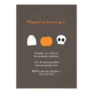 """Calabaza del fantasma del cráneo de la foto del invitación 4.5"""" x 6.25"""""""
