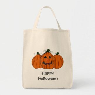 Calabaza del feliz Halloween Bolsa Tela Para La Compra