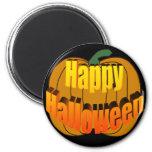 Calabaza del feliz Halloween Imán Para Frigorifico