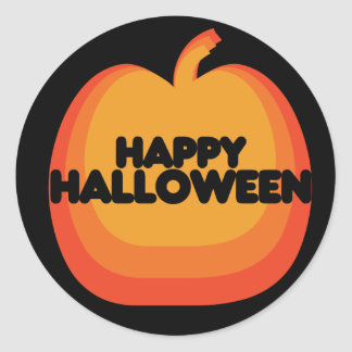 Calabaza del feliz Halloween Pegatina Redonda