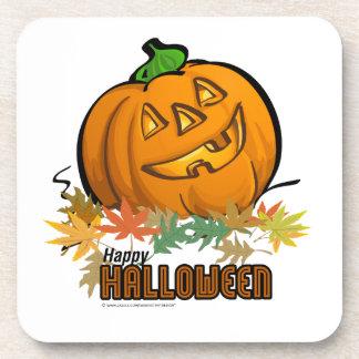 Calabaza del feliz Halloween Posavasos