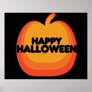 Calabaza del feliz Halloween Póster