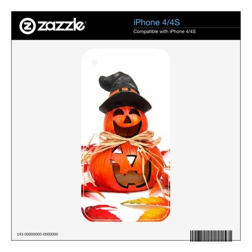 Calabaza del feliz Halloween Skin Para El iPhone 4S