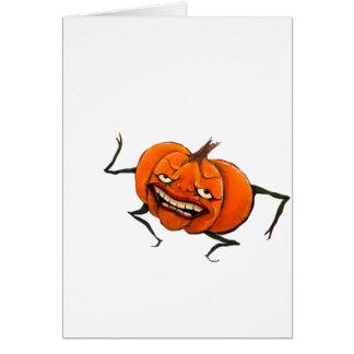 calabaza del feliz Halloween Tarjeta De Felicitación