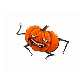 calabaza del feliz Halloween Postal