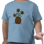 Calabaza del girasol camisetas