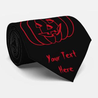 Calabaza divertida de Halloween con la diversión Corbatas Personalizadas