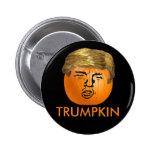 Calabaza divertida de Halloween Trumpkin del Pin Redondo De 2 Pulgadas