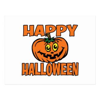 Calabaza divertida del feliz Halloween Tarjeta Postal