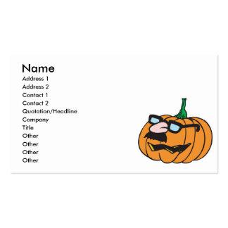 calabaza divertida en disfraz plantillas de tarjetas personales