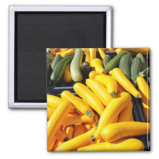 Calabaza en amarillo y verde imán de frigorífico