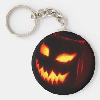 Calabaza espeluznante de la linterna de Jack o Llavero Redondo Tipo Pin