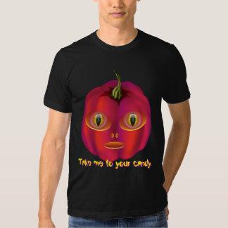 Calabaza extranjera Halloween Camisas