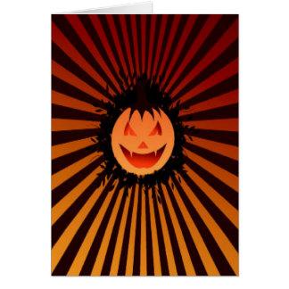 Calabaza fantasmagórica tarjeta de felicitación