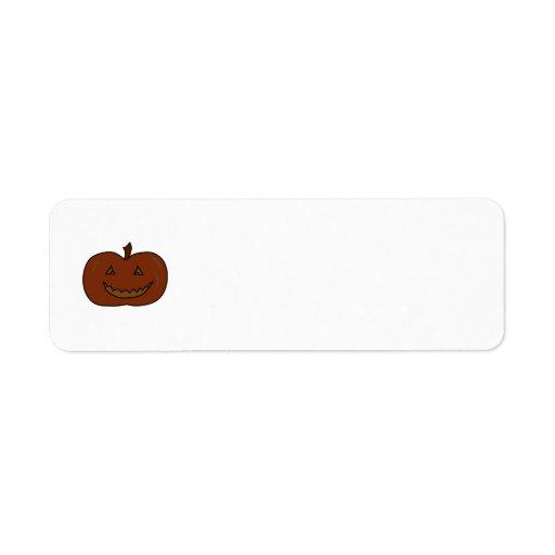 Calabaza feliz. Colores oscuros. Halloween Etiquetas De Remite