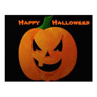 """Calabaza """"feliz Halloween """" de Halloween Tarjetas Postales"""