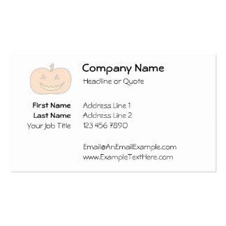 Calabaza feliz tallada, colores pálidos. Halloween Tarjetas De Visita
