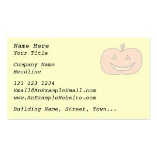 Calabaza feliz tallada, colores pálidos. Halloween Plantilla De Tarjeta Personal