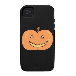 Calabaza feliz tallada. Halloween Case-Mate iPhone 4 Carcasas