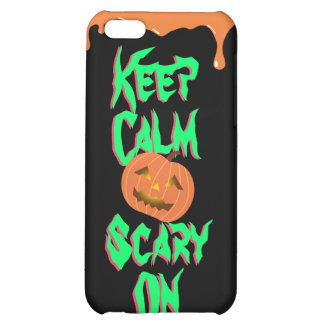 Calabaza fresca de Halloween asustadiza en el caso
