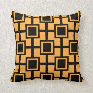 Calabaza geométrica de moda de la rejilla el | de almohada