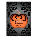 Calabaza gótica de Halloween en el damasco elegant