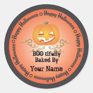 Calabaza Halloween cocido por el pegatina