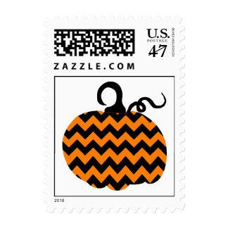 Calabaza Halloween de Chevron Timbres Postales