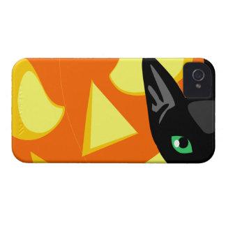 Calabaza Halloween del gato Case-Mate iPhone 4 Cárcasas