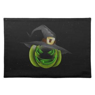 Calabaza Halloween Placemat de la bruja Mantel Individual