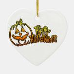 Calabaza Jackolantern del feliz Halloween Ornamento Para Arbol De Navidad