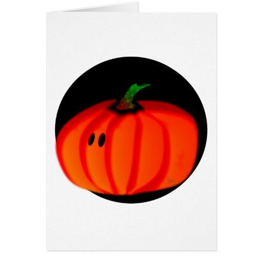 Calabaza linda de Halloween Felicitaciones