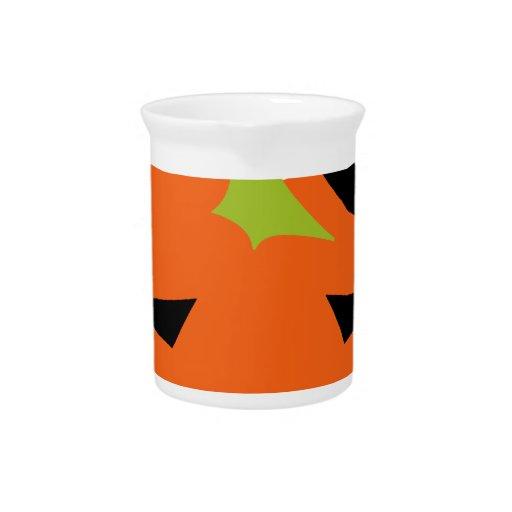 calabaza linda de Halloween Jarra Para Bebida