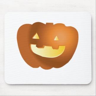 Calabaza linda de Halloween Tapetes De Raton