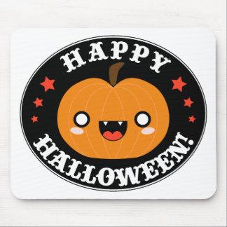 Calabaza linda de Kawaii Halloween Tapete De Raton