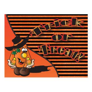 Calabaza linda el | Halloween del dibujo animado Tarjetas Postales