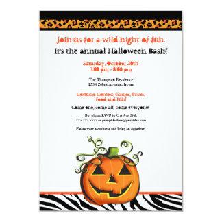 Calabaza linda y de la cadera Halloween del Invitacion Personal