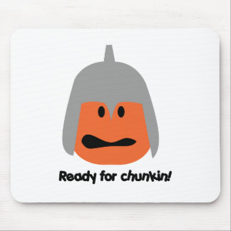 Calabaza lista para la camiseta del chunkin tapetes de ratón