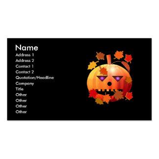 Calabaza loca de Halloween - tamaño del negocio Plantillas De Tarjeta De Negocio