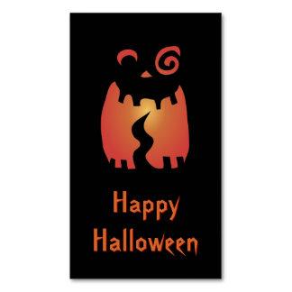 Calabaza loca de Halloween Tarjetas De Visita Magnéticas (paquete De 25)