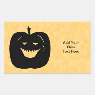 Calabaza, negro y naranja de Halloween Pegatina Rectangular