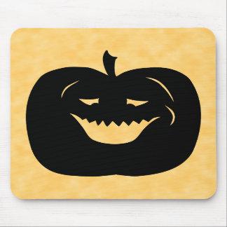 Calabaza negro y naranja de Halloween Alfombrillas De Ratones