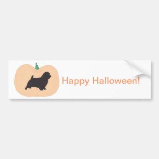 Calabaza Norfolk Terrier del feliz Halloween Pegatina De Parachoque