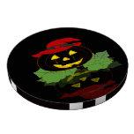 Calabaza oscura de Halloween Juego De Fichas De Póquer
