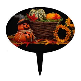 Calabaza oscura de Halloween Figuras De Tarta