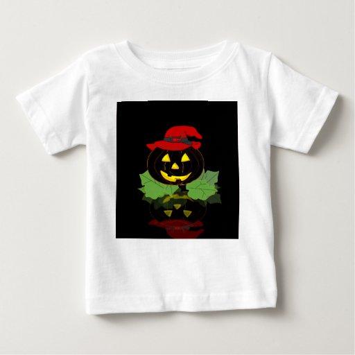 Calabaza oscura de Halloween Playera De Bebé