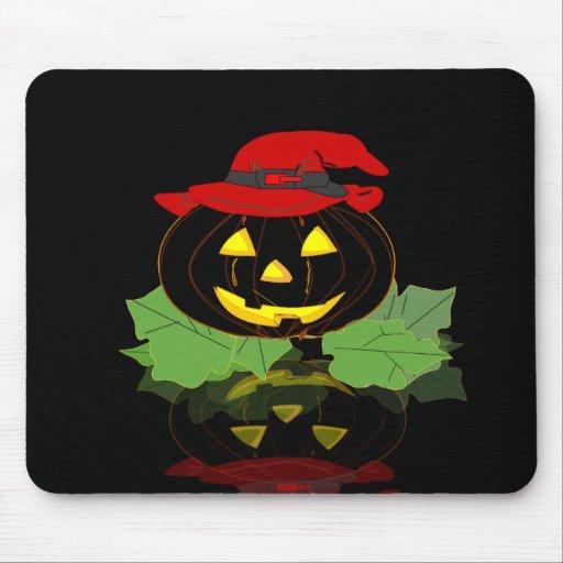 Calabaza oscura de Halloween Tapetes De Ratón