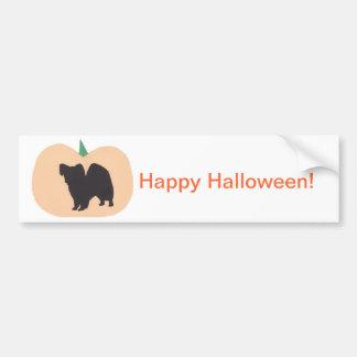 Calabaza Papillon del feliz Halloween Etiqueta De Parachoque