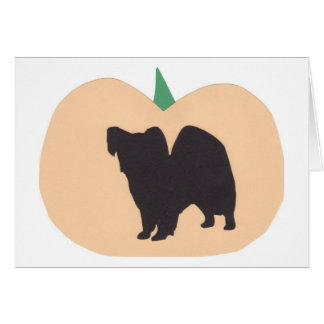 Calabaza Papillon del feliz Halloween Felicitación