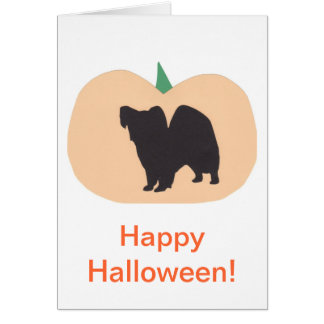 Calabaza Papillon del feliz Halloween Tarjetón